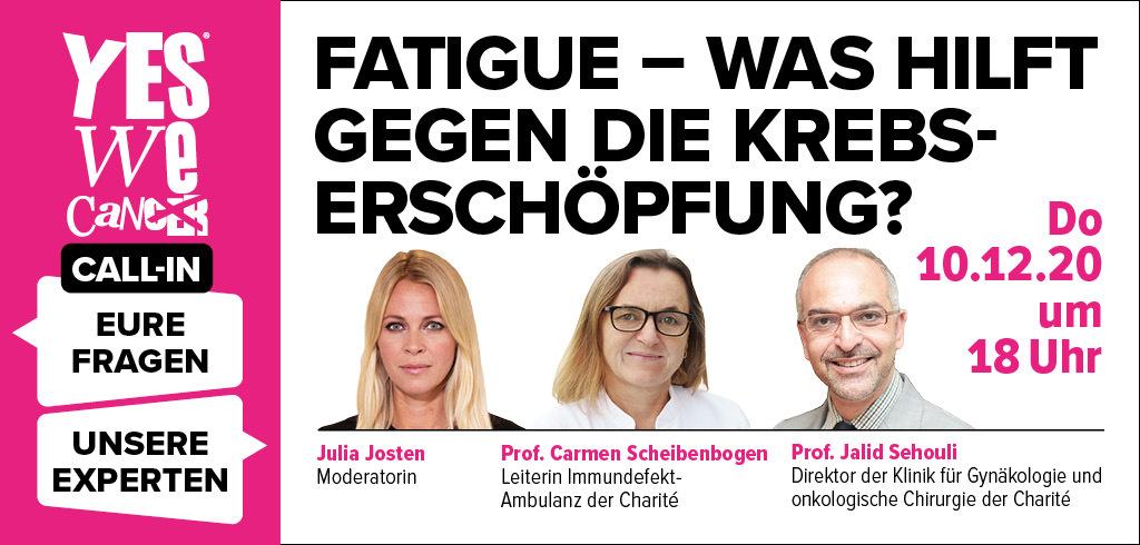 CALL-IN: Fatigue – was hilft gegen die Krebs-Erschöpfung?