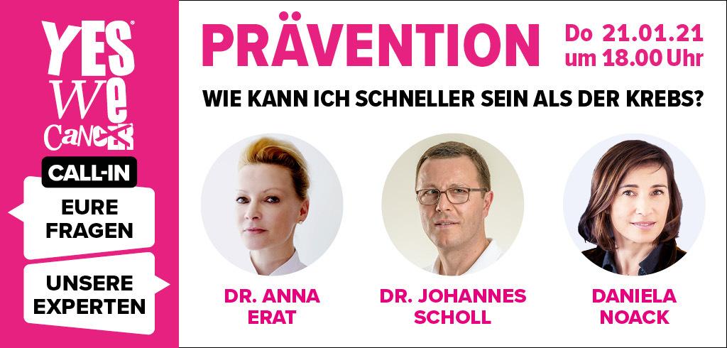 CALL-IN: Prävention – Wie kann ich schneller sein als der Krebs?