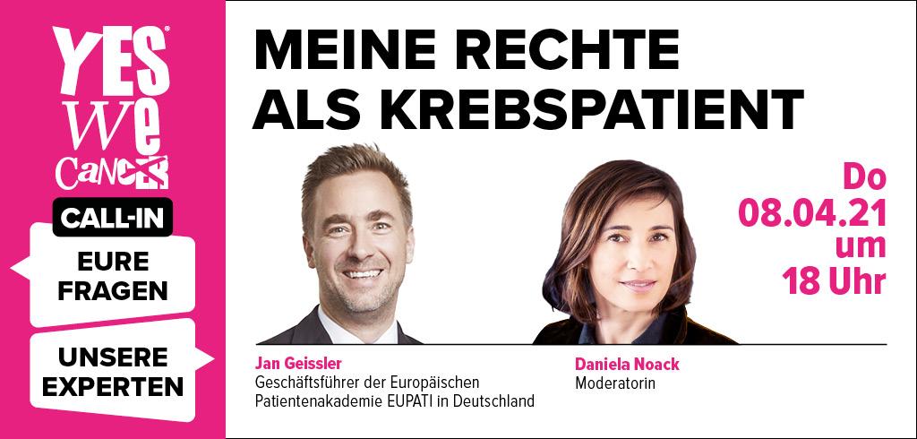 CALL-IN am 08.04.2021 mit Jan Geissler, Moderation: Daniela Noack