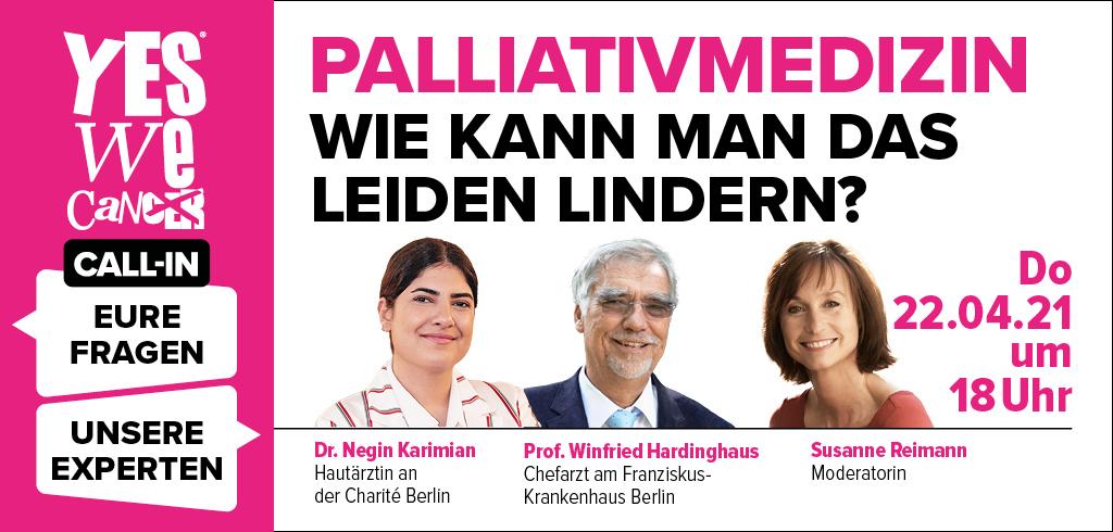 """CALL-IN zum Thema """"Palliativmedizin, wie kann man das Leiden lindern?"""