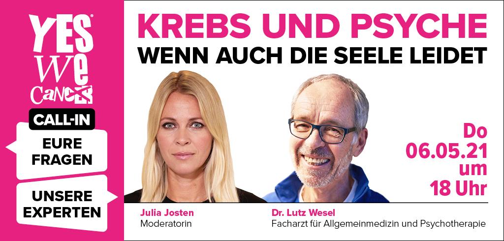 CALL-IN: Krebs und Psyche – Wenn auch die Seele leidet - Lutz Wesel-Julia Josten