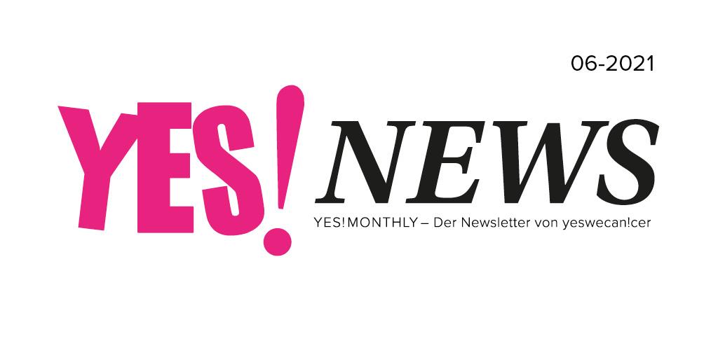 Bild von Logo des Newsletters von yeswecan!cer YES!NEWS 06-21021
